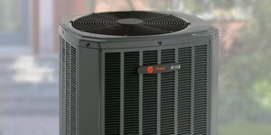 Image of heat pump outdoors